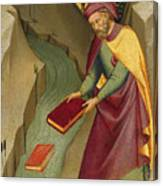 The Magus Hermogenes Casting His Magic Books Into The Water Canvas Print