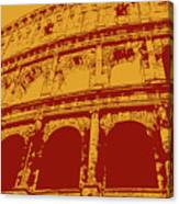The Majestic Colosseum Of Rome Canvas Print