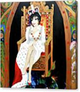 The Majestic Joan Collins D B E Canvas Print