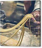 The Making Of Pasta Canvas Print