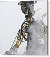 The Man Engine And His Man Canvas Print