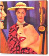 The Man In Her Life Paid More Attention To Ruby Hatfield After She Bought That New Dress Canvas Print