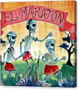 The Marathon Canvas Print