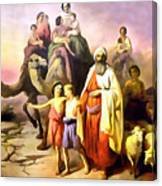 The March Of Abraham Canvas Print