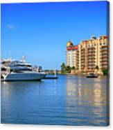 The Marina Sarasota Fl Canvas Print