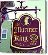 The Mariner King Inn Sign Canvas Print