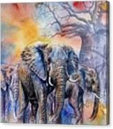 The Masai Mara Elephants Canvas Print