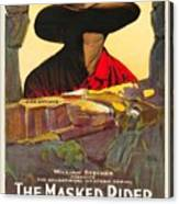 The Masked Rider 1919 Canvas Print