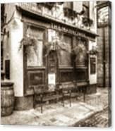 The Mayflower Pub London Vintage Canvas Print