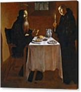 The Meal Of Saint Benedict Of Nurcia Canvas Print