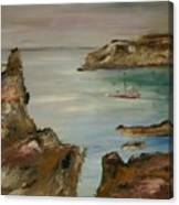 The Mediteranean Coastline Canvas Print