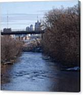 The Menomonee Near 33rd And Canal Streets Canvas Print