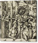 The Men's Bath Canvas Print