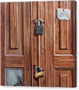 The Message Door Canvas Print