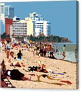The Miami Beach Canvas Print