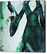 The Midnight Garden Witch Canvas Print