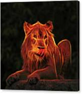The Mighty Lion Canvas Print
