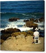 The Mighty Pacific Grab A Chair And Watch The Show Three Canvas Print