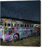 The Milky Way Bus Canvas Print