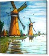 The Mills Of Holland Canvas Print