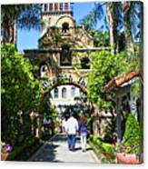 The Mission Inn Stage Coach Entrance Canvas Print