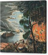The Mississippi In Time Of War, 1865  Canvas Print