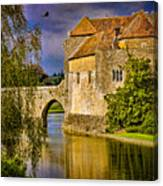 The Moat At Leeds Castle Canvas Print