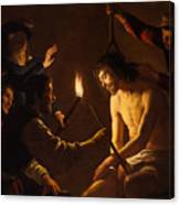 The Mocking Of Christ Canvas Print