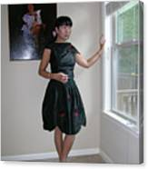 The Model And The Painting Canvas Print