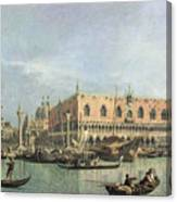 The Molo And The Piazzetta San Marco Canvas Print