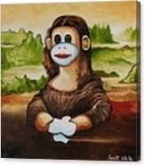 The Monkey Lisa Canvas Print