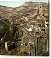 The Monstery Of Mar Saba Canvas Print