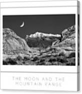 The Moon And The Mountain Range Poster Canvas Print