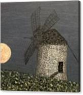The Moon And The Windmill Canvas Print