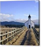 The Morley Church, Alberta, Canada Canvas Print