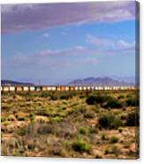 The Morning Train By Route 66 Canvas Print