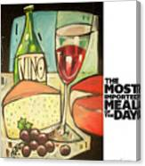 The Most Imported Meal Canvas Print