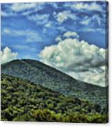 The Mountain Meets The Sky Canvas Print