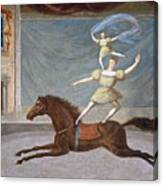 The Mounted Acrobats Canvas Print