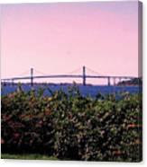 The Mt Hope Bridge Bristol Rhode Island Canvas Print