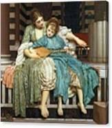 The Music Lesson Canvas Print
