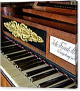 The Musical Keyboard Of Johann Friedrich Marty Antique Grand Piano Canvas Print