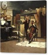The Musicale, Canvas Print