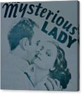 The Mysterious Lady Canvas Print