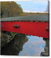 The Narrows Covered Bridge At Dusk Canvas Print