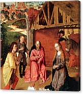 The Nativity By Gerard David  Canvas Print