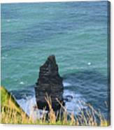 The Needle Off The Cliff's Of Moher In Ireland Canvas Print