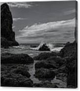 The Needles Black And White Canvas Print