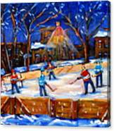 The Neighborhood Hockey Rink Canvas Print