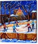 The Neighborhood Hockey Rink Canvas Print